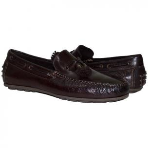 Paolo Shoes Sean Nappa Tasseled Driving Shoes Dark Brown Image