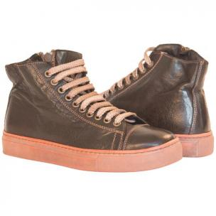 Paolo Shoes Shawn High Top Sneakers Dark Brown Image