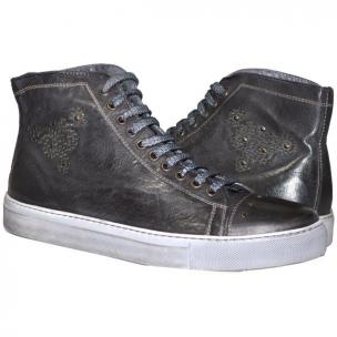 Paolo Shoes Sierra High Top Sneakers Stone Image
