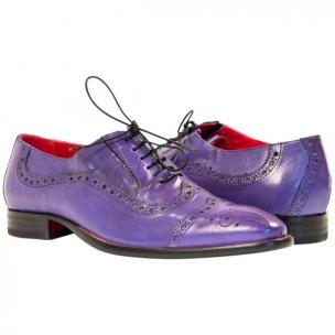 Paolo Shoes Tim Wingtip Brogues Purple Image