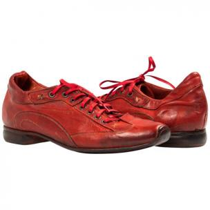 Paolo Shoes Turner Nappa Leather Sole Sneakers Red Image
