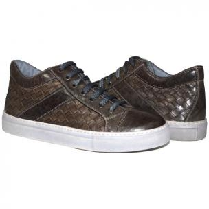 Paolo Shoes Tyler Woven Sneakers Stone Gray Image