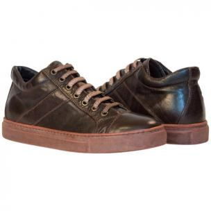 Paolo Shoes Winston Low Top Sneakers Dark Brown Image