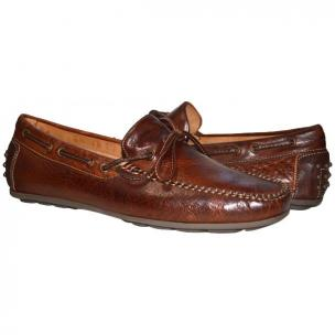 Paolo Shoes Zayden Nappa Driving Shoes Brown Image