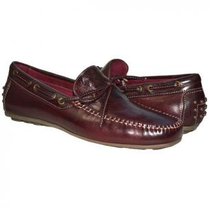 Paolo Shoes Zayden Nappa Driving Shoes Oxblood Image