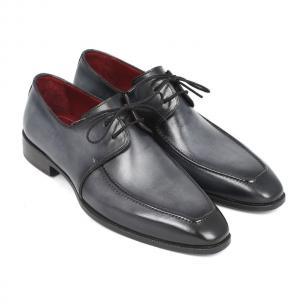 Paul Parkman Apron Toe Derby Shoes Gray / Black Image
