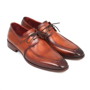 Paul Parkman Apron Toe Derby Shoes Brown Image