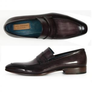 Paul Parkman Calfskin Strap Loafers Black / Gray Image