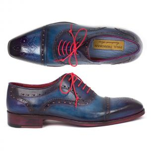 Paul Parkman Cap Toe Brogues Blue / Parliament Image