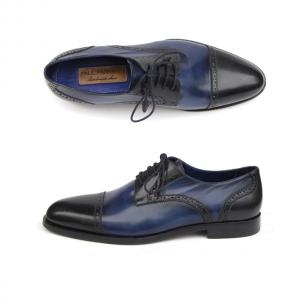 Paul Parkman Cap Toe Brogues Blue Image
