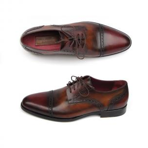 Paul Parkman Cap Toe Brogues Bordeaux / Tobacco Image