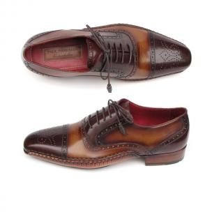 Paul Parkman Cap Toe Side Stitch Brogues Brown Image