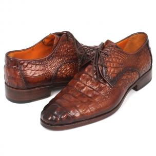 Paul Parkman Crocodile Embossed Shoes Brown Image