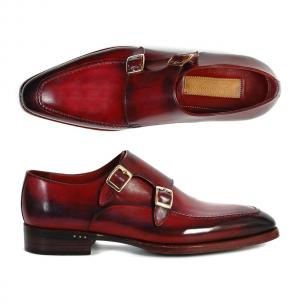 Paul Parkman Double Monk Strap Shoes Bordeaux / Black Image
