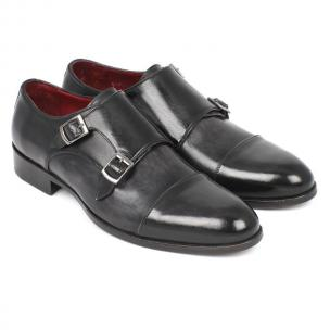 Paul Parkman Double Monk Strap Shoes Gray/Black Image