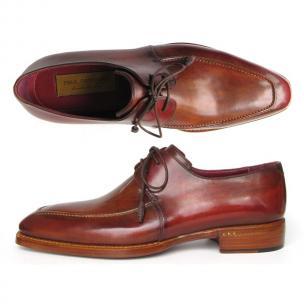 Paul Parkman Goodyear Welt Apron Toe Dress Shoes Brown Image