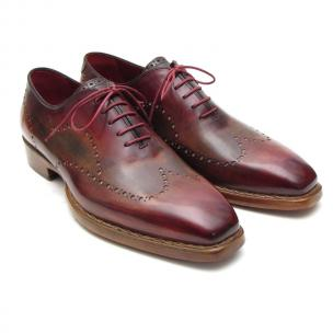 Paul Parkman Goodyear Welt Wingtip Oxfords Bordeaux / Camel Image