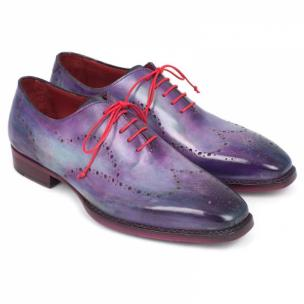 Paul Parkman Goodyear Welted Wingtip Shoes Purple Image