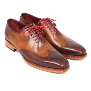 Paul Parkman Goodyear Welted Wingtip Shoes Brown / Camel Image