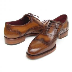 Paul Parkman Goodyear Welted Wingtip Shoes Tobacco Image