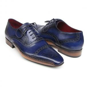 Paul Parkman Side Sewn Brogues Blue Image