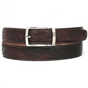 Paul Parkman Hand Painted Ostrich Quill Belt Brown Image