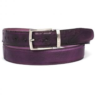 Paul Parkman Hand Painted Ostrich Quill Belt Purple Image