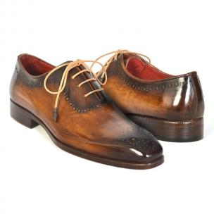 Paul Parkman Medallion Toe Oxfords Camel Image