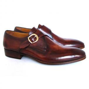 Paul Parkman Monk Strap Dress Shoes Brown / Camel Image