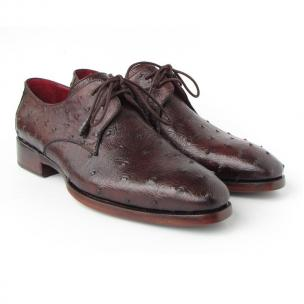 Paul Parkman Ostrich Quill Derby Shoes Brown Image