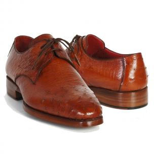 Paul Parkman Ostrich Quill Derby Shoes Tobacco Image