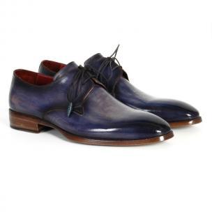 Paul Parkman Plain Toe Derby Shoes Blue / Navy Image