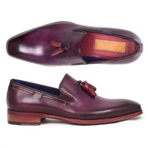 Paul Parkman Plain Toe Tassel Loafers Purple Image