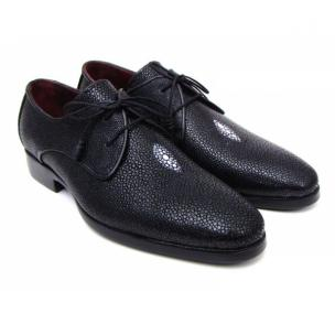 Paul Parkman Goodyear Welt Stingray Shoes Black Image