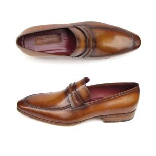 Paul Parkman Strap Loafers Brown Image