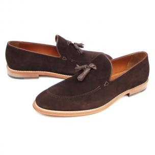 Paul Parkman Suede Tassel Loafers Brown Image