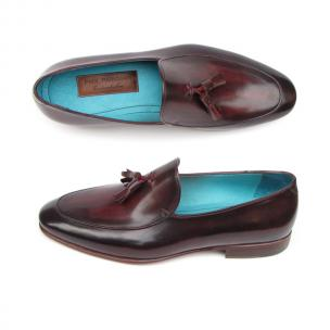 Paul Parkman Tassel Loafers Black / Burgundy Image