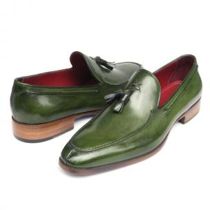 Paul Parkman Calfskin Tassel Loafers Green Image