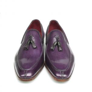 Paul Parkman Calfskin Tassel Loafers Purple Image