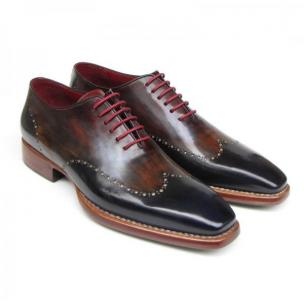 Paul Parkman Wingtip Oxfords Navy / Brown Image