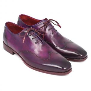 Paul Parkman Wingtip Oxfords Purple Image