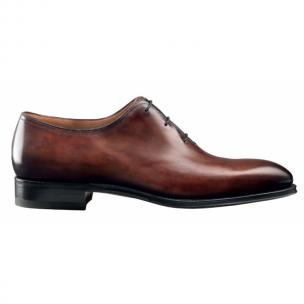 Santoni 2152-2 Goodyear Welt Plain Toe Oxfords Brown Image