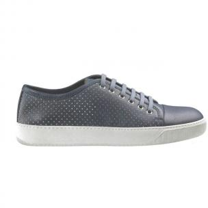 Santoni Acadia SM6 Perforated Leather Sneakers Blue Image