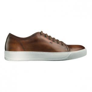 Santoni Acadia TQ2 Calfskin Sneakers Brown Image
