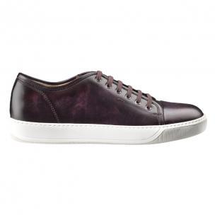 Santoni Acadia TQ4 Calfskin Sneakers Burgundy Image