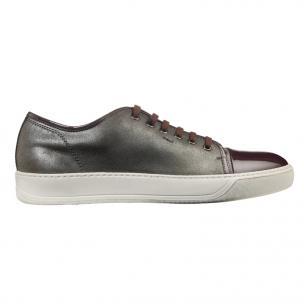 Santoni Acadia VM4 Sneakers Gray/Burgundy Image