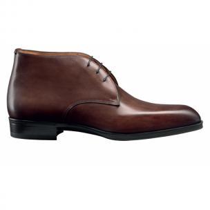 Santoni Andale Calfskin Chukka Boots Brown Image