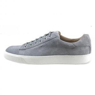 Santoni Apache S6 Suede Sneakers Blue Image