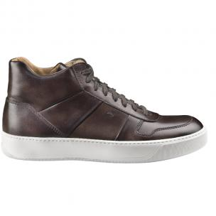 Santoni Ash TQ3 Calfskin High Top Sneakers Dark Brown Image