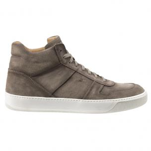 Santoni Ash YS5 Suede High Top Sneakers Taupe Image